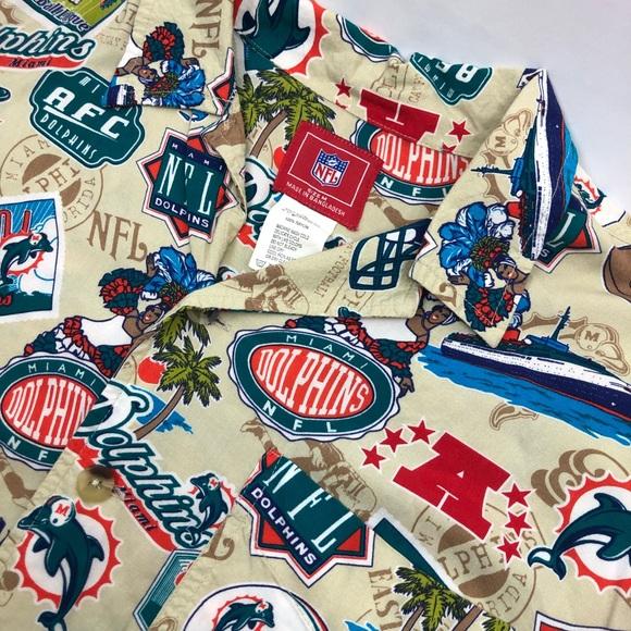 c352fdbb7 NFL Shirts | Miami Dolphins All Over Print Hawaiian Shirt | Poshmark